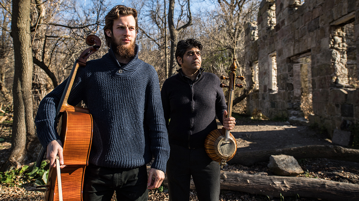 Kamancello's cellist Raphael Weinroth-Browne and Shahriyar Jamshidi on kamancheh