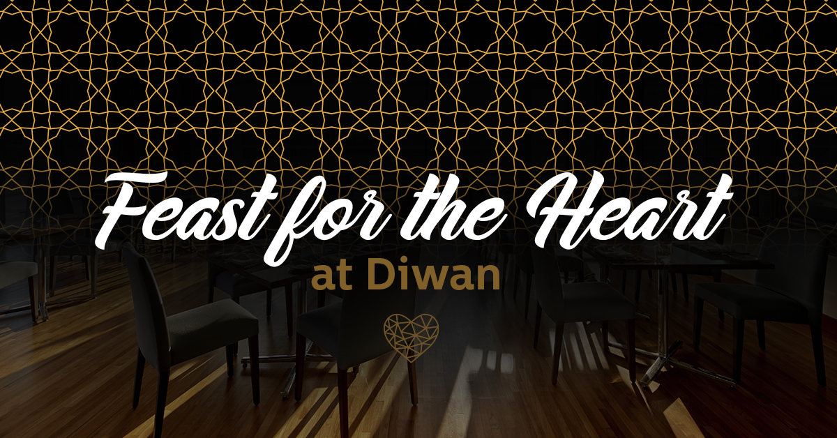 Graphic design for Feast of the Heart dinner at Diwan