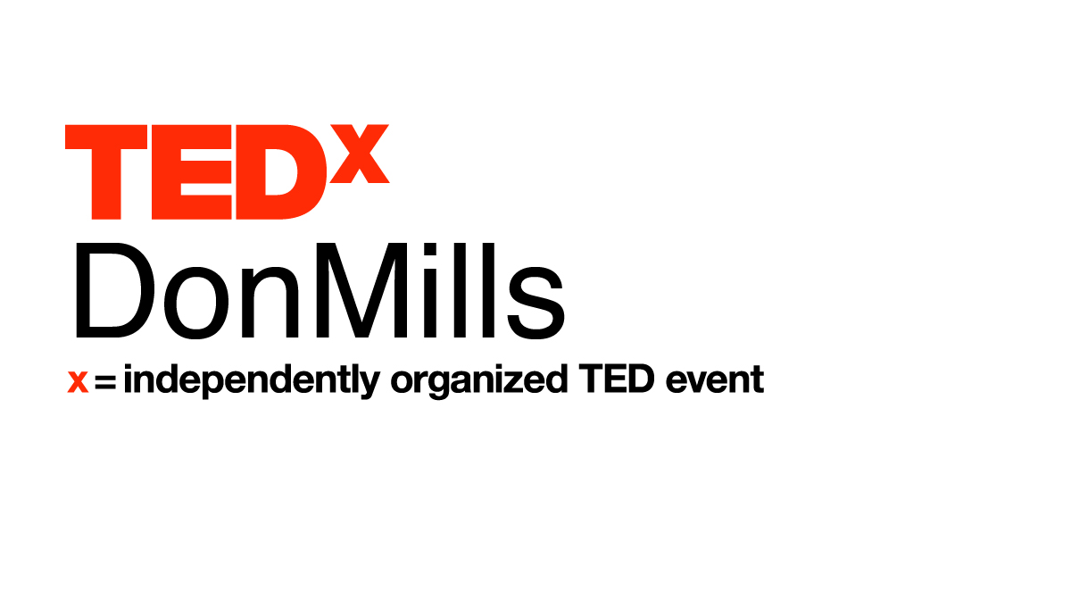 Logo of TedxDonMills - Independently Organized TED event