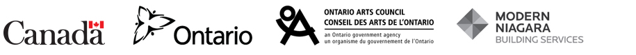 Government of Canada, Government of Ontario, Ontario Arts Council, and Modern Niagara